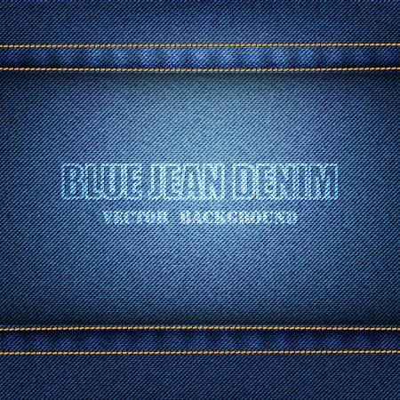 Blue Denim Texture Background Banque d'images