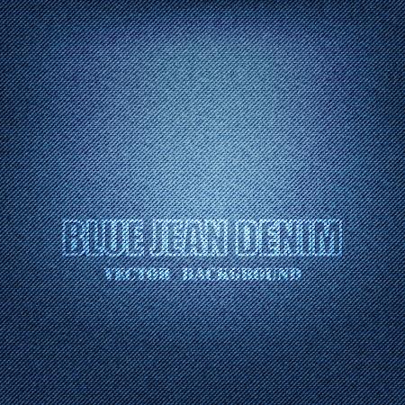 Vector EPS 10 - Blue Denim Texture Background