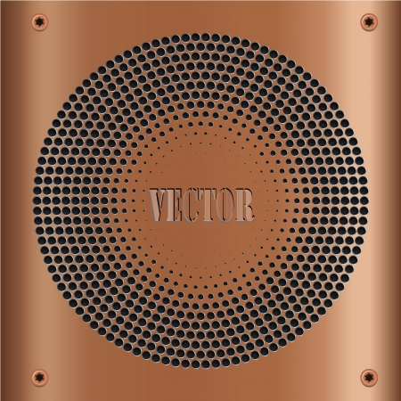 mechanical radiator: chrome pink gold metal surface, background
