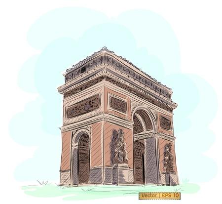 elysium: World famous landmark collection : Arc de Triomphe , Paris, France