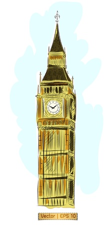 World famous landmark collection : Big Ben,London photo