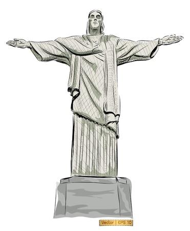 brazil symbol: World famous landmark collection :  Christ the Reedemer statue, Corcovado, Rio de Janeiro, Brazil