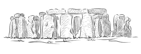 stonehenge: Vector World famous landmark collection : Stonehenge, England , in England with origins estimated at 3,000BC.