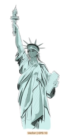 World famous landmark collection    Statue of Liberty , New York City, America Stock Photo - 18954149
