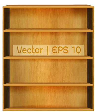 ibook: wooden book shelf background for ebook for modern tablet pc Stock Photo