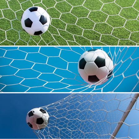 bannière football: Collection de ballon de football, le football, pour bannière web