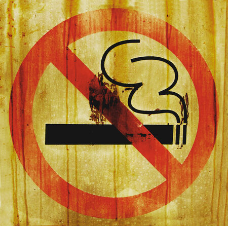 exclude: grunge vintage stop smoking sign