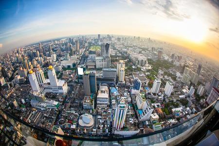 Top view city, Bangkok , Thailand Standard-Bild