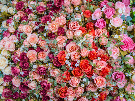 artificial flowers: beautiful cloth artificial flowers for background