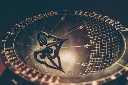 hemispheric: Sundial made in the era of Joseon Dynasty and displayed in Gyeongbokgung, Seoul, South Korea