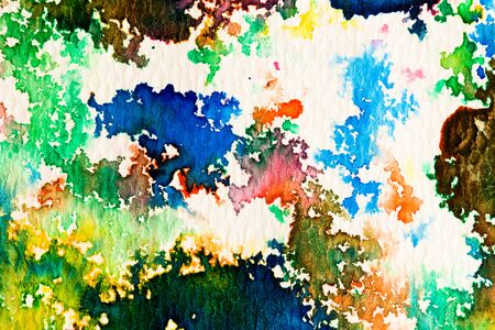 intensity: hires close up water color painting on watercolor paper texture using for background
