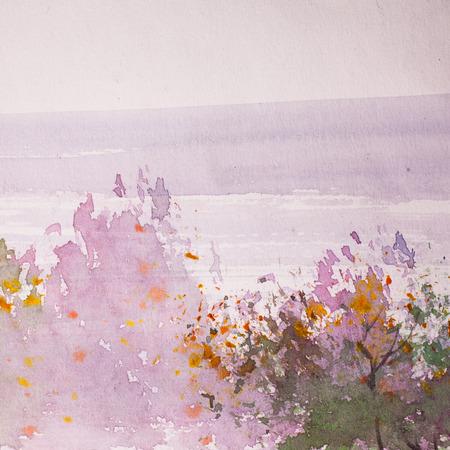 Abstract Watercolor background, Foto de archivo