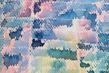 multilayer: hi-res close up water color painting on watercolor paper texture using for background