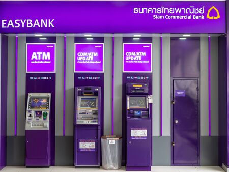 Pattaya, Chonburi /Thailand - July 19, 2018: The Siam Commercial Bank ATM in the department store. SCB ATM.