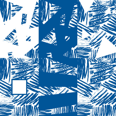 all purpose: 6 designs of blue abstract brush strokes background. Vector background for all purpose in your design Illustration