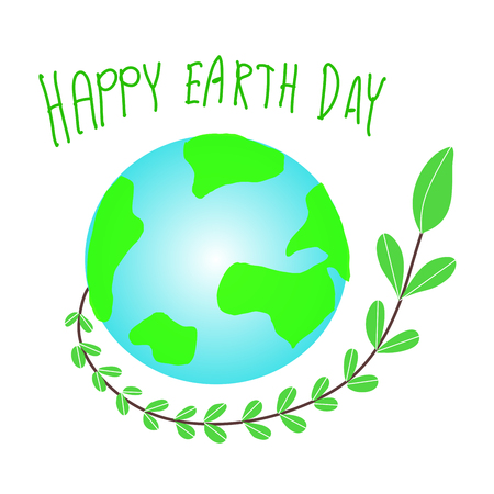 Earth Day. Eco friendly concept. Vector illustration. Earth day concept. World environment day background. Save the earth. Happy Earth Day Poster or Banner Background. - เว�เตอร์