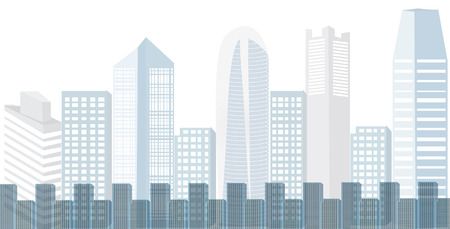 City background With many large tall buildings For text input or various advertising work - vector illustration Illustration