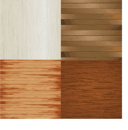 4 different wood plank backgrounds for various work background, Card, banner - vector