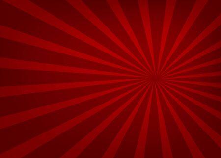 Czerwone światło rozchodzące się w linii prostej od środka, piękne, tło - wektor
