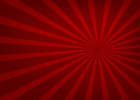 Red light spreading in a straight line from the center, beautiful, background - vector