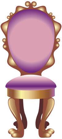 Vector illustration of a fancy chair upholstered with velvet