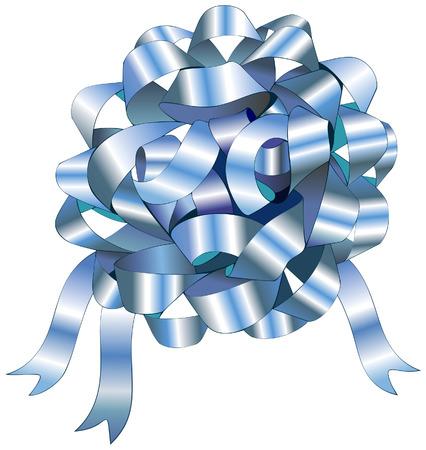 Vectorillustratie van een boog van blue ribbon