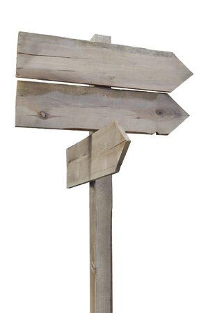 Ancien signe en bois, vide et prêt pour votre texte.