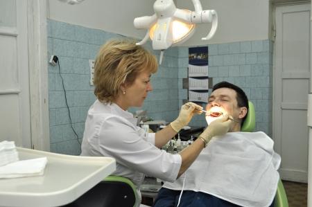 Traitement médical au Bureau du dentiste