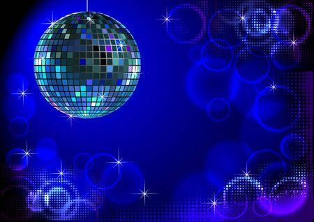 Blue fond disco Illustration