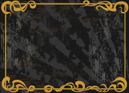 Vintage grunge background with a floral frame Vector