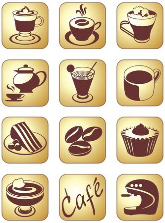 smack: Icon set for coffee break and beverage service