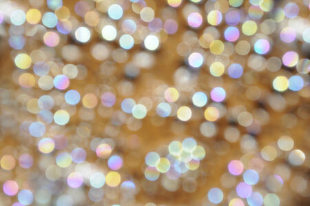 magenta decor: Pearl and golden bokeh with halftone circles Stock Photo