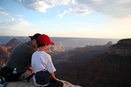 Father and Son Bonding at the Grand Canyon