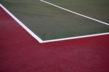 Outdoor Tennis Court in Park photo