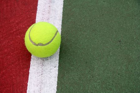 Tennis Ball on the Line photo