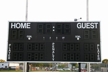 Sports Scoreboard Stock Photo