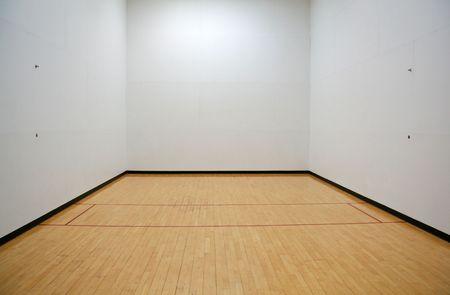 Empty Racquetball Court 免版税图像