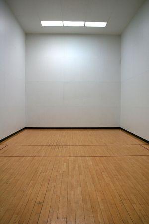 Empty Racquetball Court Фото со стока