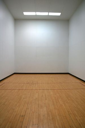 Empty Racquetball Court Stock Photo