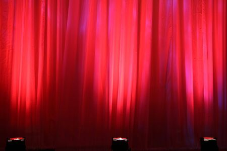lamp shade: Spot lights on red curtain