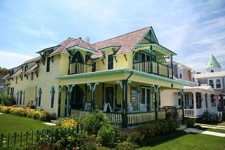 cape cod style: Victorian House on Marthas Vineyard Stock Photo