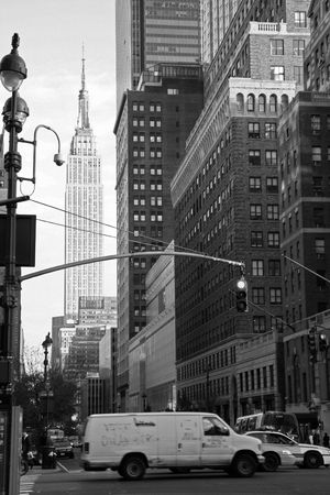 big top: New York Street Scene - Black and White