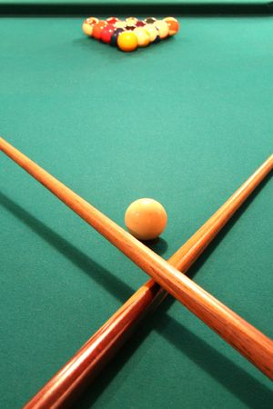 billiards room: Pool Table Ready to Play