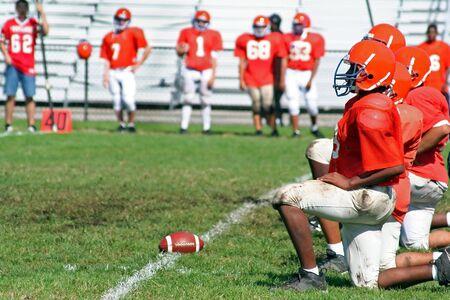 school football: High School Football Line