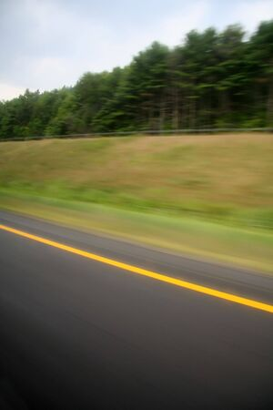 Road in Motion - Highway Travel photo