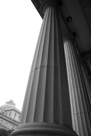 Gerechtsgebouw Column Stockfoto