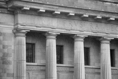 Courthouse on a Rainy Day Stock Photo