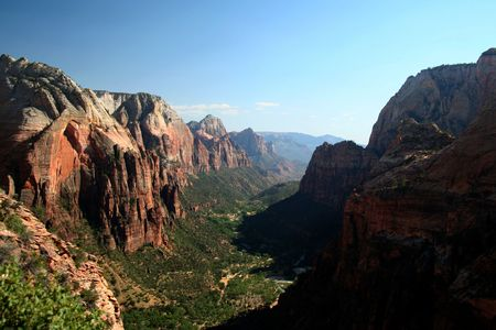 national scenic trail: Zion Canyon National Park - Utah - USA