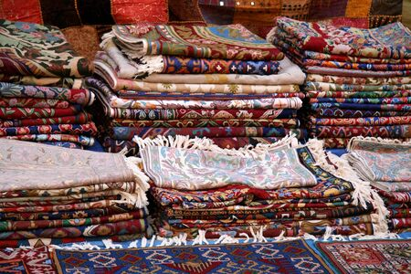 Rugs at the Bazaar Stock Photo