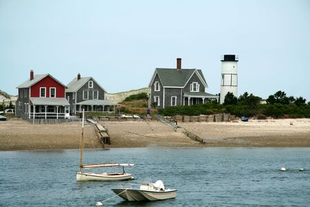 Beach Homes on the Water in Cape Cod Massechuettes Stock fotó